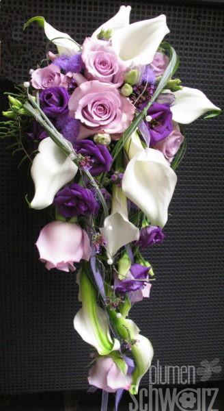 Brautstrauß weiss lila - Hochzeitsfloristik