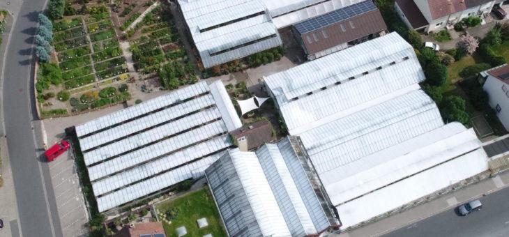 Luftbilder der Gärtnereien im Juni