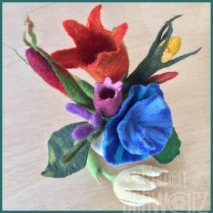 Kurs: Blütenfilzkurs mit der Wollwirkerei Ansbach (Rutz)
