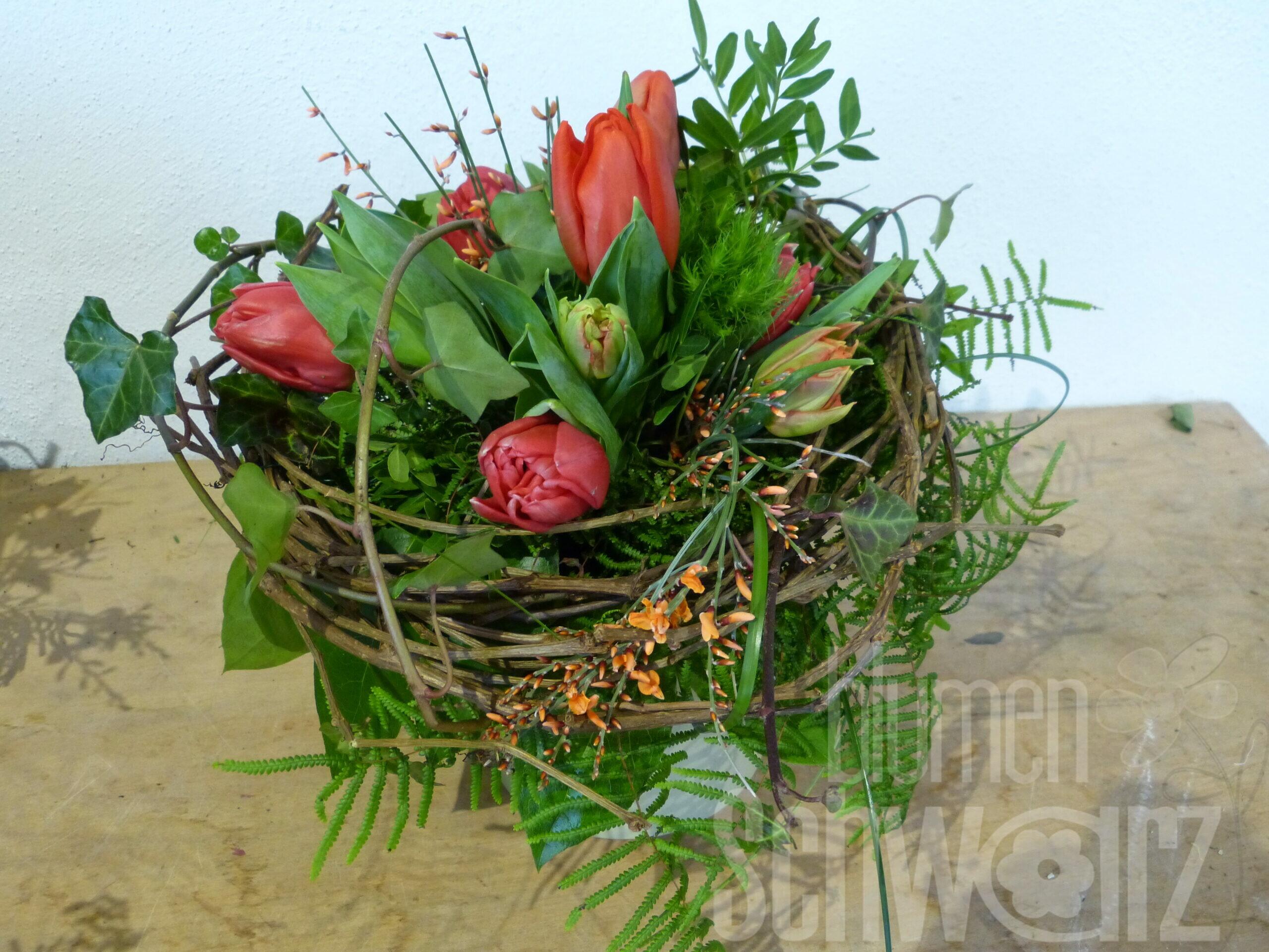 Tulpen- und Frühlingsblumensträuße