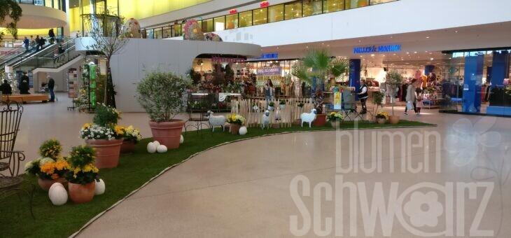 Frühlings- oder Osterbeete in Einkaufszentren