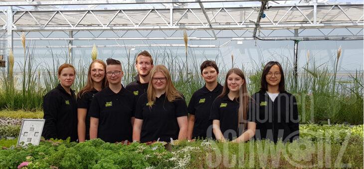 grüne Berufe – beliebt wie noch nie – 10 junge Menschen in der Ausbildung